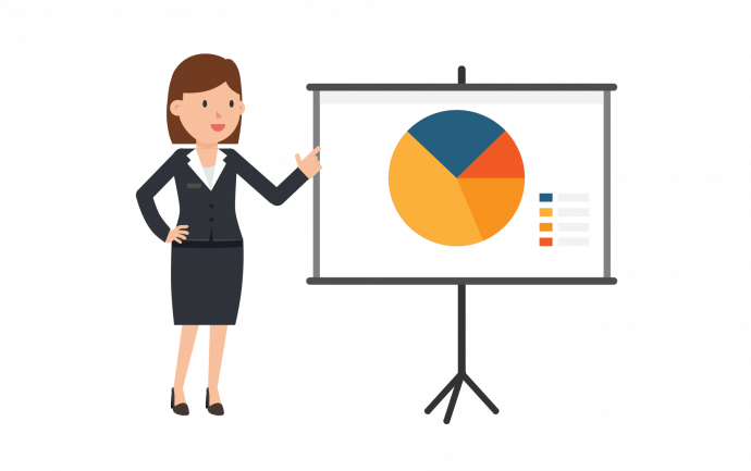 2000px Corporate Woman Giving A Powerpoint Presentation.svg